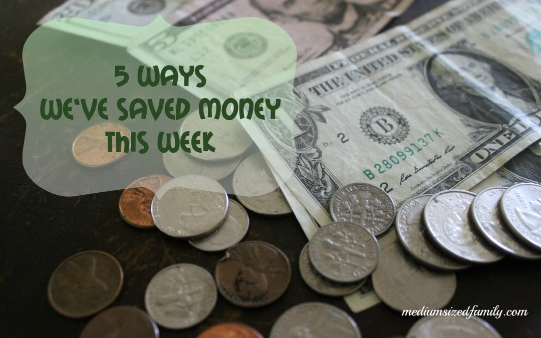 5 Ways We've Saved Money This Week A whole series of #frugal ideas that you can easily implement into your family life this week from Medium Sized Family Blog.