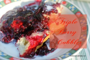 triple berry cobbler
