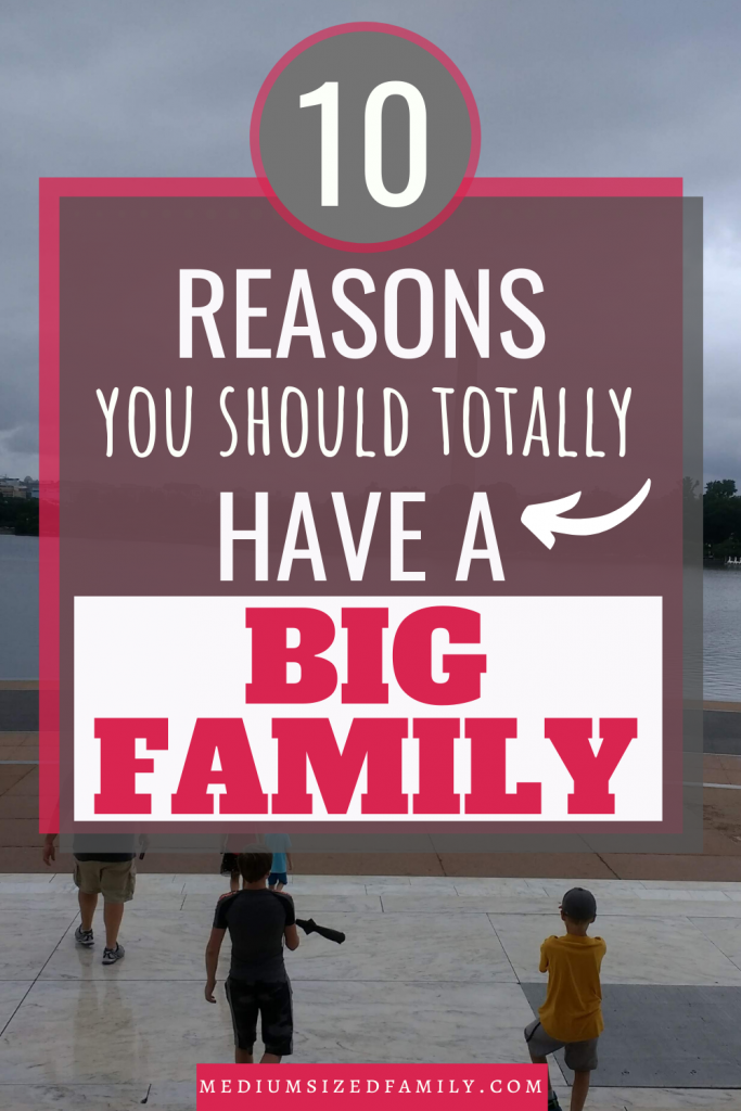 Big family life is awesome! Sometimes you need a good sense of humor, but having a large family is the best thing you can do.