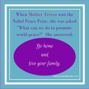 When Mother Teresa won the Nobel Peace Prize,