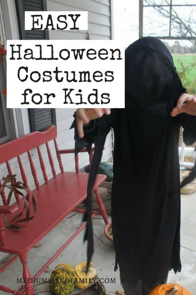 These easy Halloween costumes for kids are a great way to enjoy the holiday without spending a fortune.  Learn how to score Halloween costumes for cheap or even free!