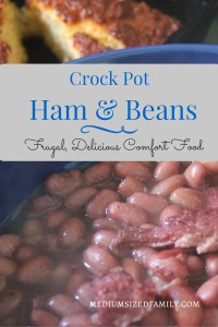 How to make Ham and Beans in the crock pot. It's a delicious meal that's also seriously frugal. You'll be surprised at how simple it is to make!