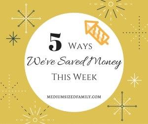 5 Ways We've Saved Money This Week Facebook