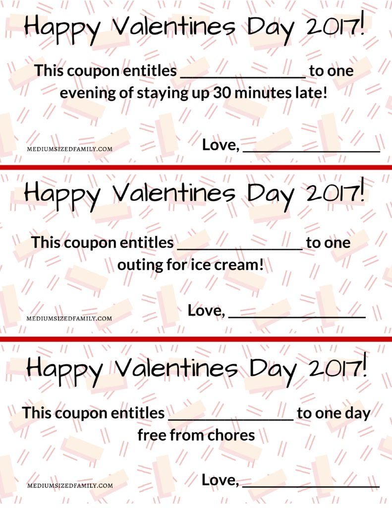 These Valentines Day printables for kids will make their day. A fun and free gift for kids on Valentines Day.