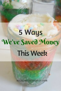 5 Ways We've Saved Money This Week: A series that follows a variety of ways one family saves money week after week.