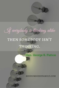 If everybody is thinking alike, then somebody isn't thinking