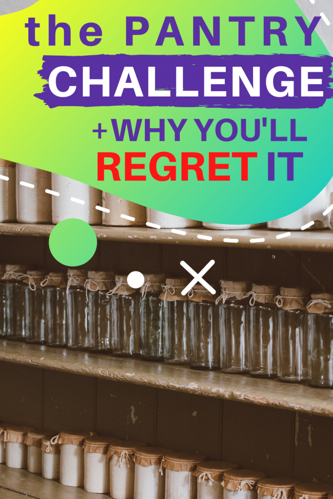 Learn why the no spend pantry challenge is a terrible idea. There are better ways to save money and do frugal living.