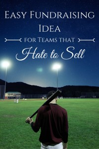 Simple fundraising ideas for teams that hate to sell. You'll be surprised by how easy this fundraiser really is!
