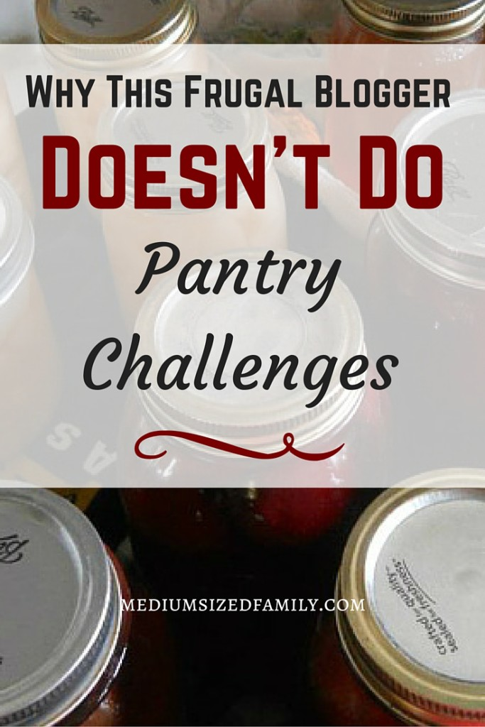 Find out why this frugal blogger has stopped doing pantry challenges. And what she does instead that save big money.