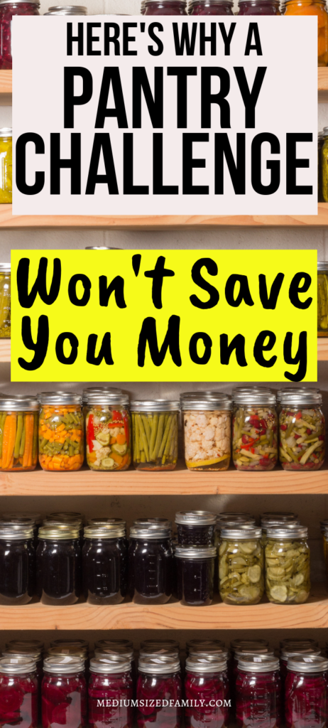Is a pantry challenge the best money saving tip for your grocery budget? Probably not.