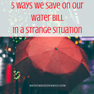 How to Save Money On Your Water Bill: A Weird Water Situation