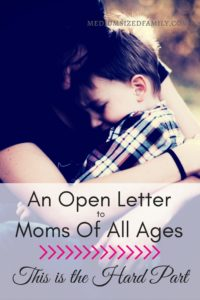 A sweet open letter to moms just in time for Mother's Day!