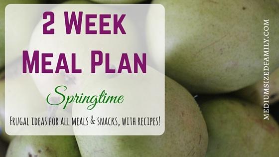 2 Week Meal Plan for Spring