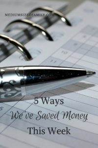 5 Ways We've Saved Money This Week 35: The #yearofno family logs another 5 ways they've saved money in the weekly series.