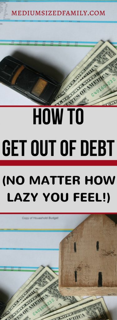 If you're trying to figure out how to get out of debt, but you aren't sure you can really follow through on a debt plan, read this!