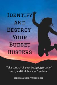 Identify and destroy your budget busters. Looking for real ways to make a difference in your finances? If you've been struggling to pay off debt for years, try these steps to finally gain traction. Freedom from debt and paycheck to paycheck living is in sight.