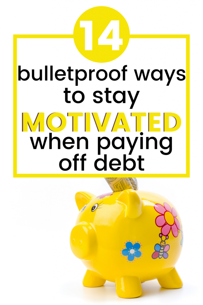Paying off debt can be hard. Stay motivated with these tips and ideas so you can get debt free quickly even on one income.
