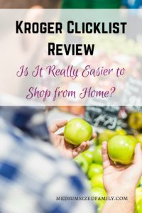 Kroger Clicklist Review- Is it really easier to shop from home? Grocery pick up service review. Grocery shopping from home. Online grocery shopping.
