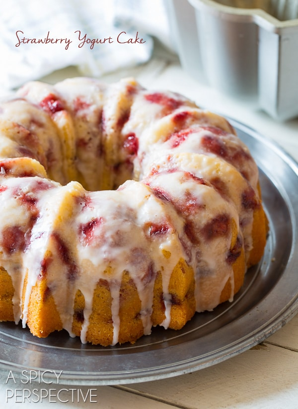 Strawberry Yogurt Cake Find this great recipe plus more ideas for your summer potluck here.