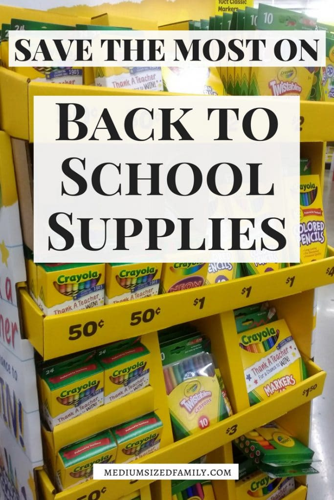 Back to school supplies lists get expensive quickly! Pick up those must have supplies without breaking your budget.