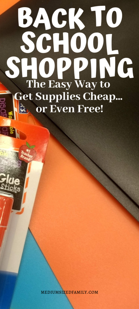Learn how to do back to school shopping on a budget to find school supplies for cheap or even free!