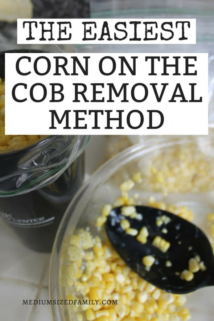 Corn on the cob removal is EASY with these simple tips! Learn how to freeze your sweet corn for a delicious side dish all winter long!