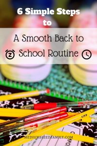 Ugh, I hate going back to the school routine after a summer off. These are some good ideas for making it easier for the whole family.