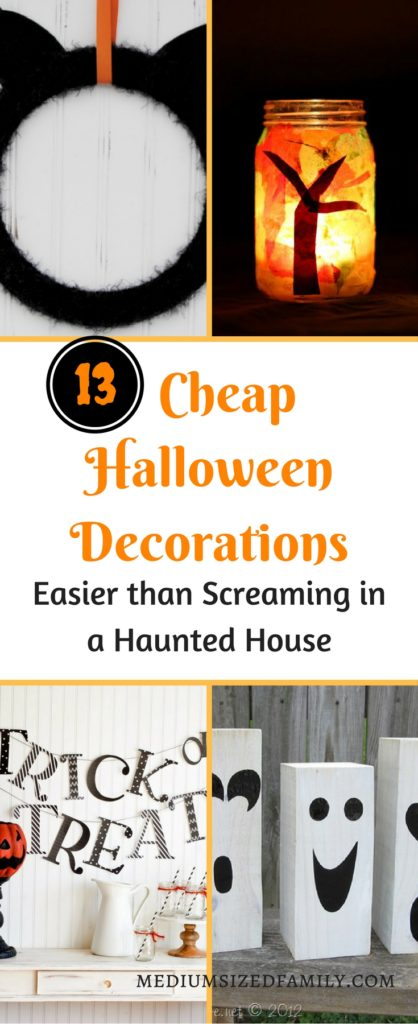13 Cheap Halloween Decorations, Easier than screaming in a haunted house! These frugal Halloween decoration ideas are so simple that you might already have most (or all!) of the materials on hand. Check them out and give your home that spooky feeling without breaking the bank.