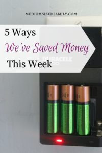 5 Ways We've Saved Money This Week 50. This family is tracking all of the ways they've saved money to help them pay off debt.