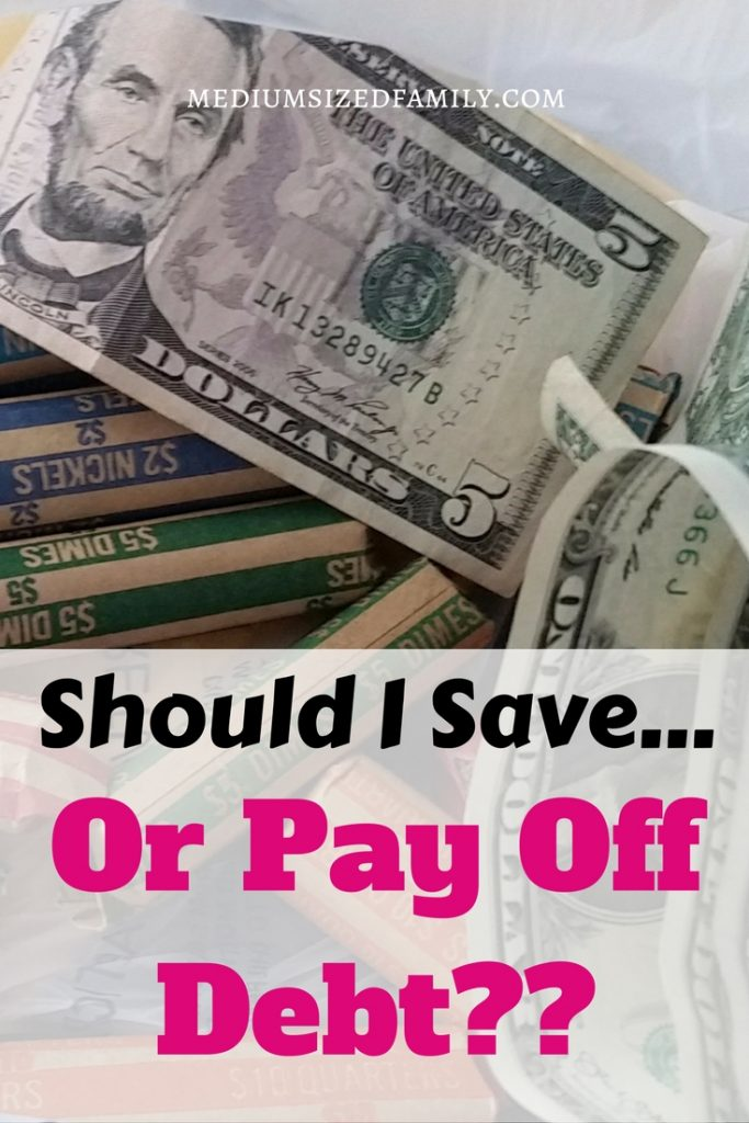 Save or pay off debt? Pay off debt or save money? That's the big question, but this answer makes me think I can do both.