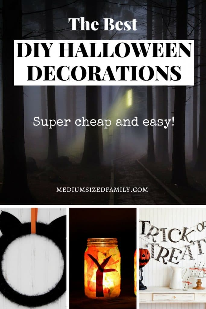 Cheap Halloween decorations you can DIY from the dollar store.  These simple, easy ideas are perfect for saving money while still getting into the spooky spirit!