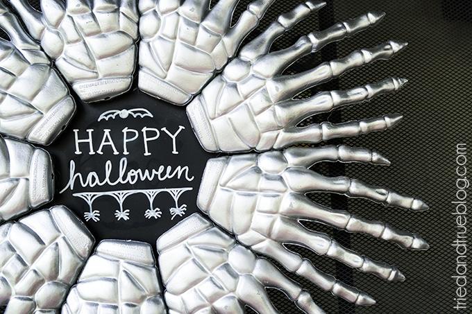 Halloween spooky hands wreath