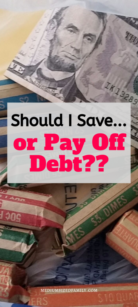 Should you save money or pay off debt? What's the best way to finally get ahead financially?