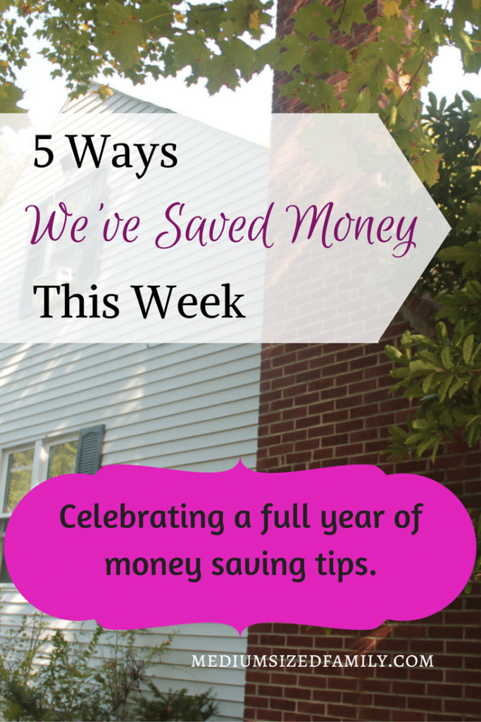 5 Ways We've Saved Money This Week 52. This blogger has shared all the ways her family has saved money for the past year. This post celebrates a full year of money saving tips that you can use with your own family.