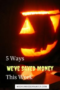The 5 Ways We've Saved Money This Week series. Need a ton of tips for saving money? This blogger shares 5 different ways her family saved money every week. Tons of info here.