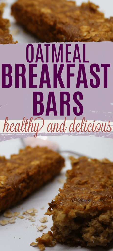 Easiest Ever Oatmeal Breakfast Bar Recipe: The Whole Family Will Love It! Breakfast bars for kids. Easy breakfast bar recipes. Healthy breakfast bar recipes.