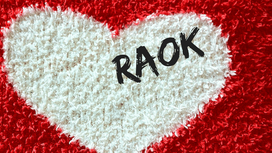 Heart on a red background for RAOK