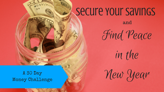 Secure Your Savings and Find Peace in the New Year: A 30 Day Money Challenge