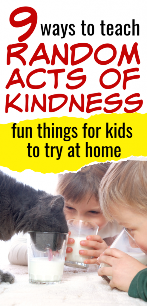 Random acts of kindness for kids, raok for children, family time scavenger hunt that teaches kids to be more kind, a free printable ideas for more random acts of kindness, ideas you can teach your kids at home