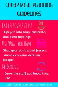 How Cheap Meal Planning Can Save You Money and Simplify Your Life. Lots of different ideas for making cheap meal plans a little easier. I didn't know about decision fatigue, but it totally makes sense!