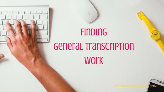 Finding general transcription work