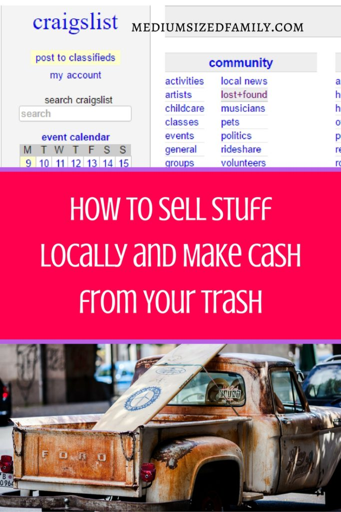 How to sell stuff locally online and make the most money from your sales.  Earn extra cash without having to pay a middle man!
