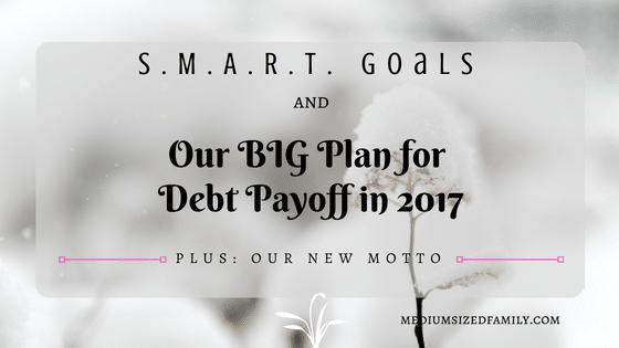 S.M.A.R.T. Goals and Our BIG Financial Plan for Debt Payoff in 2017