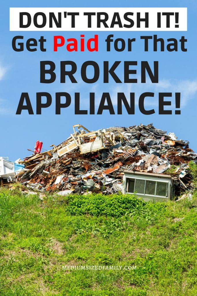 The best way to sell scrap metal for money!  You'll find the best tips for getting the most for your broken appliances and other junk here.  Another creative way to make money!  #money