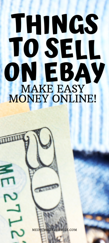 This list of things to sell on Ebay for cash is full of creative ways to earn money from home. Get the whole list here!