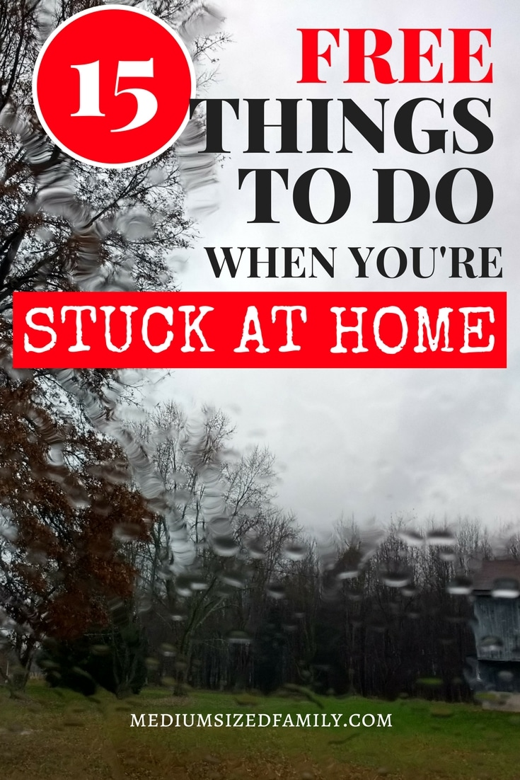Find things to do when you're stuck at home. These activities are fun for moms and for kids, too! For winter, rainy days, snow days, and any time you want to pull off a no spend weekend. People love these ideas when schools out for spring break!