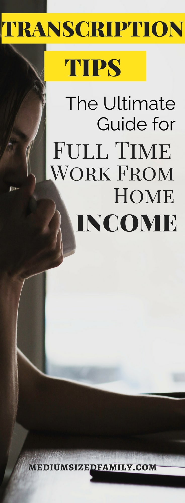 Get transcription tips that will help you make a full time income from a work at home job.