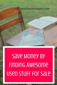 Save Money By Finding Awesome Used Stuff for Sale. Part of a series of ways to save and earn more money to help you reach your financial goals.