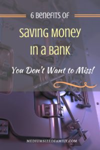 6 Benefits of Saving Money in a Bank. If you don't have a savings or checking account, you're missing out on some important benefits. Here's why it's important to have money in the bank.