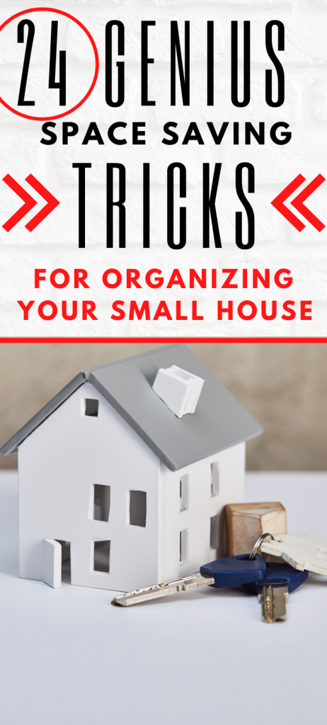 Looking for small house organization ideas? These space saving tricks will help you declutter your home. DIY solutions that work even if you have kids. For large families, too.